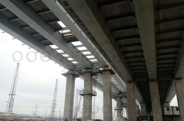 Строительство путепровода на участке автодороги Москва-СПБ (Северная рокада)
