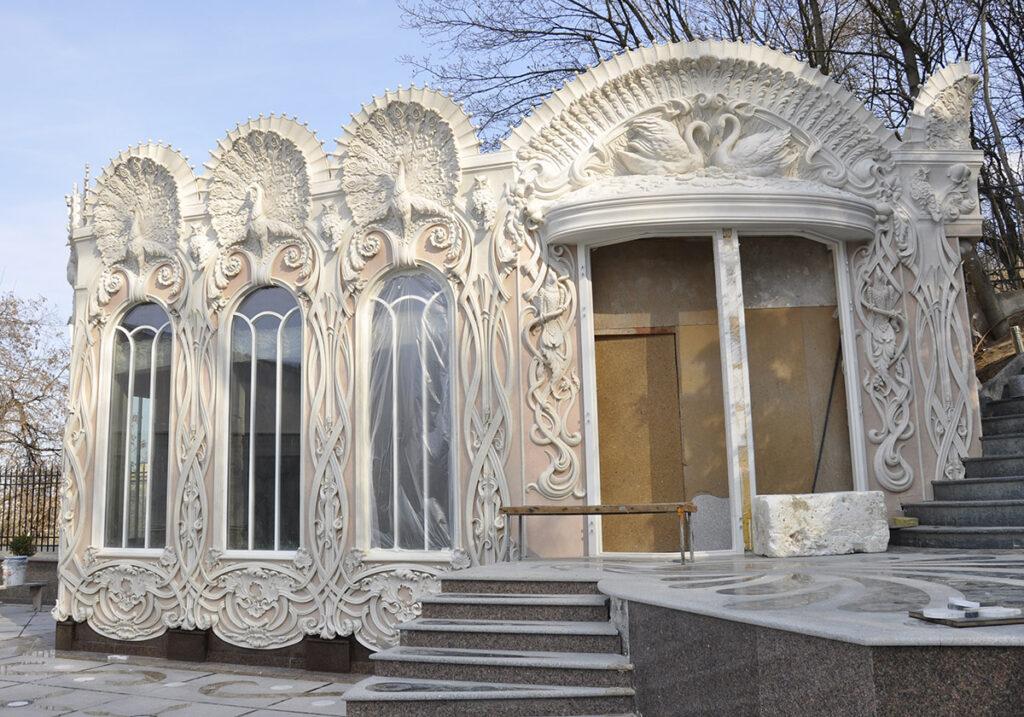 Фасадный декор фибробетона виброуплотнители бетона